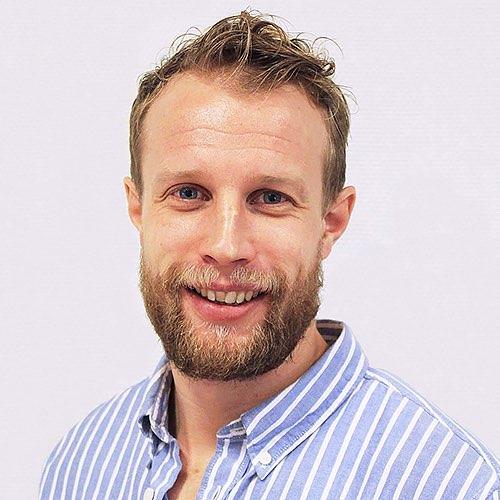 Ansiktsbild på visual solutions-säljare Johan Andersson.